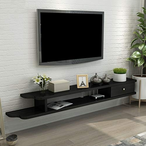 Floating Shelf Wall Shelf TV Stand Entertainment Cabinet Floating Rack Display Storage Unit Console Organizer Shelf for DVD Cable Box (Color : E, Size : 110CM) ()