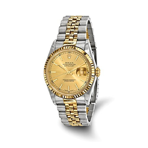 Rolex DateJust Men's 18K Yellow Gold and Stainless Steel Champagne Dial Certified Pre Owned by Roxx Fine Jewelry (Image #1)