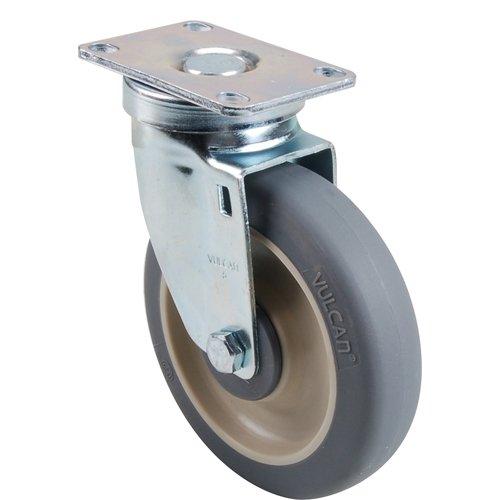 CAMBRO Medium-Duty 5'' Plate Caster Polyurethane Wheel with Plastic Hub 41021