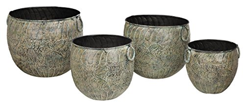 Regal Art & Gift 20208 Planter (Set of 4), Green Flower by Regal Art & Gift