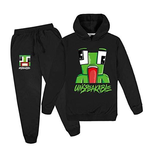 Kids Unspeakable Sweaters Broeken Kleding Sets, hoodies Outfits Stripfiguren Trui Katoen met capuchon trainingspak…