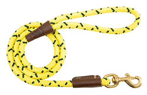 "Mendota Pet Snap Leash, 1/2"" x 6', Hi-Viz Yellow"