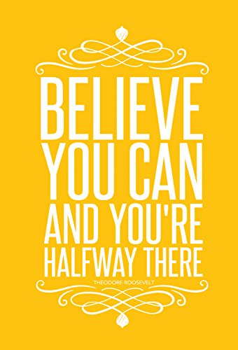Set of 3 Colorful Posters (13 X 19 inch) Motivational Inspirational Quote Wall Art Posters – Typographic UNFRAMED Wall Decor for the Home, Office, Classroom, Dorm Room, Gym, Entrepreneur, Teen