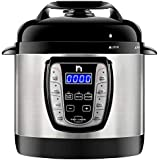 New House Kitchen 2.5 Qt. Electric Multicooker 9-in-1 Programmable Pressure Prepare Dishes in an Instant, Aluminum Pot Multifunctional Slow, Rice Cooker/Steamer, Sauté, Soup Maker