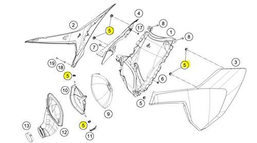 KTM/Husqvarna Side Panel Quick Release Rubber Grommet 47106003160 6 Pack