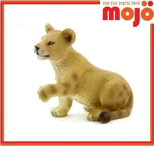 Mojo Fun 387012 Lion Cub Playing - Realistic International Wildlife Toy Replica - Lion Cub Figurine