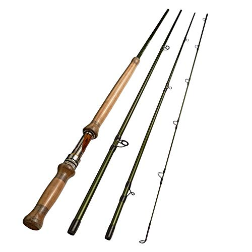 Aventik Z Switch Fly Rod Double Handed with 2 Tips Fly Fishing (11'6'' LW5/6)