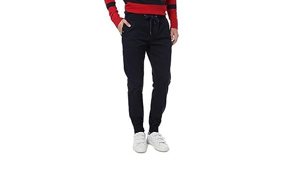 CLK Polo - Pantalon Elastico Jogging Azul Marino, Talla S: Amazon ...