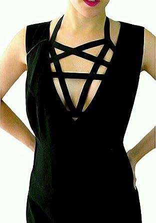 Jelinda para mujer Halter sujetador de Pentagram arnés cuerpo jaula de lactancia: Amazon.es: Ropa y accesorios