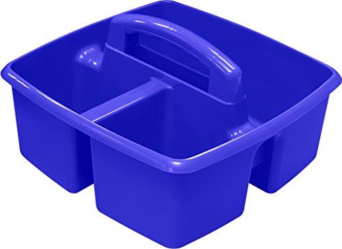 """Storex Classroom Caddy, 9.25 x 9.25 x 5.25"""", Blue, Case o..."""