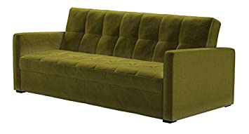 fleetwood three seat storage sofa bed in olive - Green Sofabeds ...