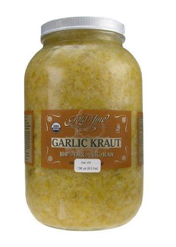 GOLD MINE ORGANIC RAW GARLIC KRAUT 1 GAL