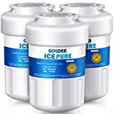 GOLDEN ICEPURE MWF Refrigerator Water Filter, Compatible with GE SmartWater MWFP, MWFA, GWF, HDX FMG-1, WFC1201, GSE25GSHECSS, PC75009, Kenmore 469991 (Pack of 3)
