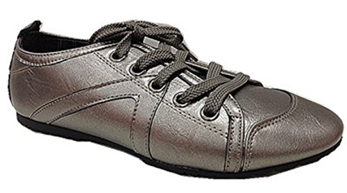 Women Sneaker Lace up Shoes Fashion 999Grey TNthe7