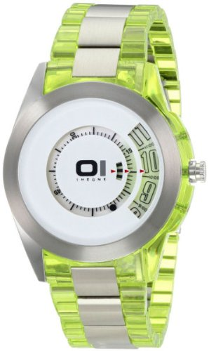 01TheOne Men's AN08G01 Spinning Wheel Classic Analog with Enamel Bezel Watch