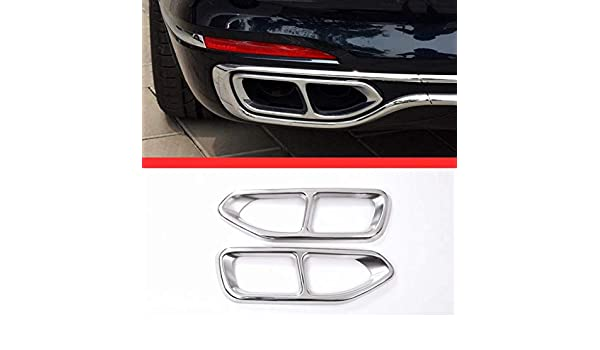 AUTO Pro for BMW 7 Series G11 G12 730 740 750li 2016 2017 304 Stainless Steel Car Accessories Exhaust Tail Pipe Output Throat Frame Cover Trim
