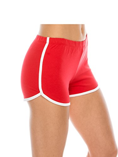 - Athletic Running Exercise Gym Yoga Booty Dolphin Short Shorts for Women Sexy Red M