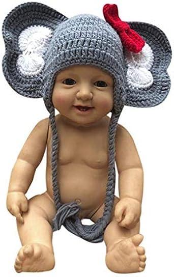 Crochet Elephant Hat Newborn Baby Hat cap Photo Prop