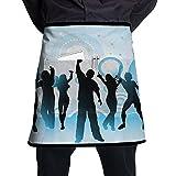 Kjiurhfyheuij Half Short Aprons Dance Girls Waist Apron with Pockets Kitchen Restaurant for Women Men Server