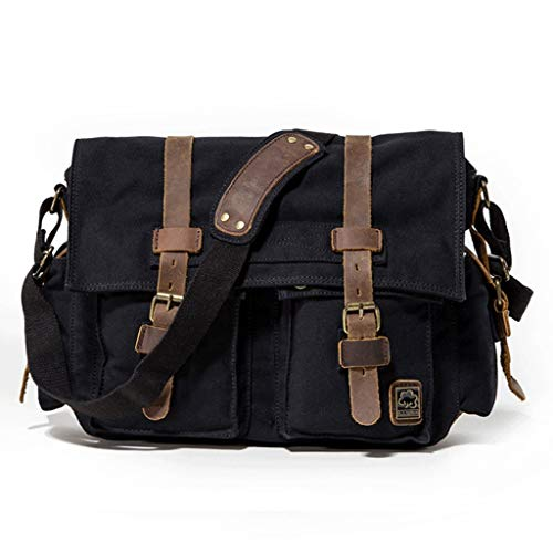 Brown color Hand Briefcase Bag Canvas Shoulder Rxf Black For Messenger Men 1wzHqc48x