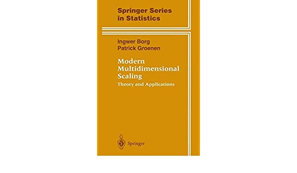 Amazon com: Modern Multidimensional Scaling: Theory and Applications