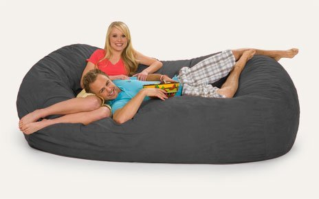 Relax Sack 7 ft. Microsuede Foam Bean Bag Lounger by Relax Sack (Image #1)