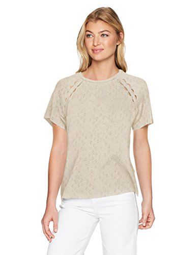 Lucky Brand Women's Cut Out Tee, Natural, S from Lucky Brand