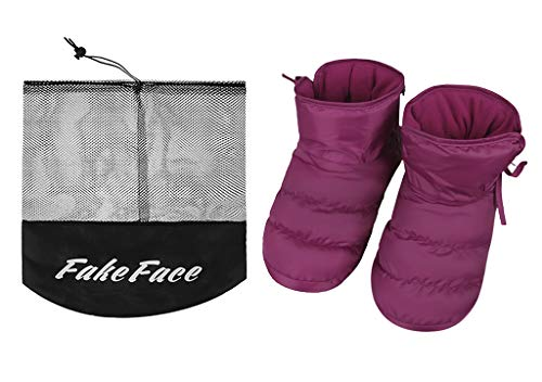 Pictures of Unisex Winter Quilted Down Ankle Bootie House 6