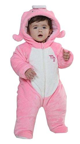 Reutry Baby Flannel Jumpsuit Romper Pajama Sleepwear Onesie Clothes Virgo (Size100)