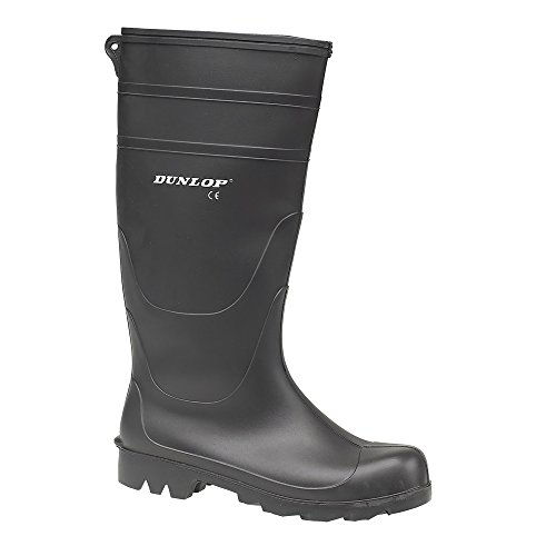 Dunlop - Botas de agua estilo Wellington de PVC modelo Universal para hombre Negro