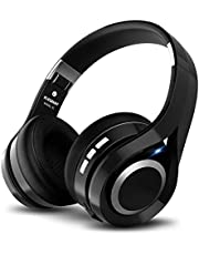 Casque bluetooth, ELEGIANT Écouteur bluetooth sans Fil Headset Wireless Réglable Mains libres + Mic/aux Audio 3,5 mm Compatible avec Smartphone Iphone Android Ordinateur PC Tablette (noir )