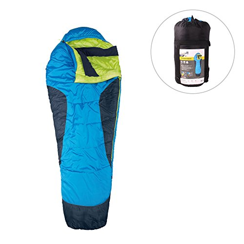 AceCamp Mummy Sleeping Bag with Compression Sack 20F -6C Lightweight 290T Polyster Shell 83.86inches for Outdoor Camping Hiking (20f Mummy)
