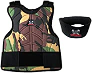 MAddog Sports Padded Chest Protector w/Neck Protector Safety Combo