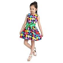 Changeshopping(TM) Color Polka Dot Kids Summer Girls Bow Swing Wide Dress