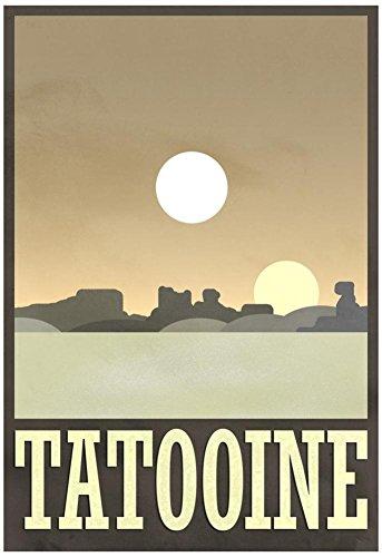 Laminated Tatooine Travel Poster