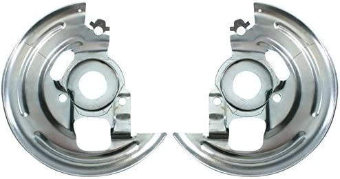 N-3-3 Caliper Bracket and Backing Plate Pair Compatible with 1964-72 GM A-Body with Single Piston Calipers Inline Tube Disc Brake Spindles