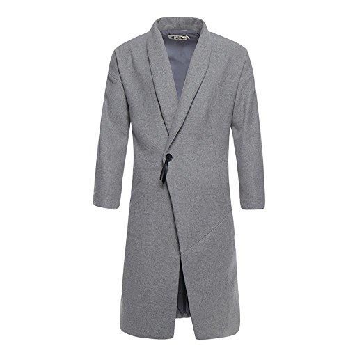 de Slim de lana XXXXL paño de macho otoño abrigo chaqueta el El invierno viento invierno largo China y abrigo xgZqx7Ya