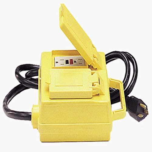 Alert Stamping 4215-6GFCI Portable Ground Fault Interrupter w Four 15 A Circuit Breaker Protected Outlets