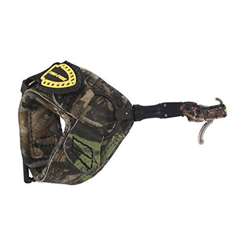 - TruFire Hardcore Buckle Foldback, Max Adjustable Archery Compound Bow Release - Plush Camo Buckle Wrist Strap with Foldback Design