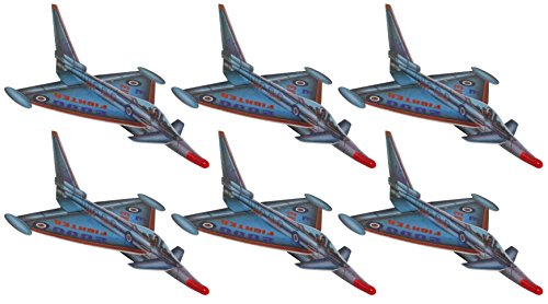 EF2000 13-Inch Eurofighter Large Foam Jet Fighter Glider - 18-Pack ()