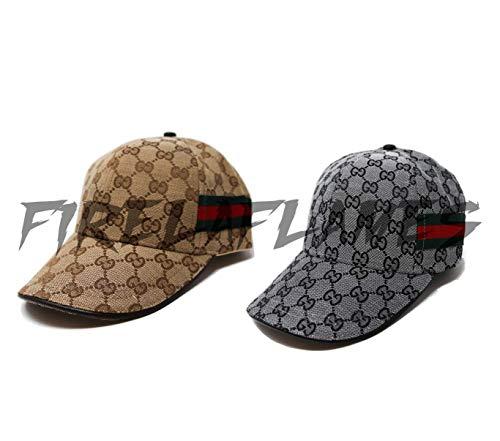 (Custom Designer Baseball Hat | GG Design Inspired| Unisex Cap (White))