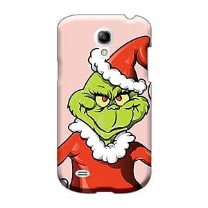 LeoSwiech Samsung Galaxy S4 Mini Shock Absorbent Cell-phone Hard Covers Custom Vivid The Grinch Christmas Illustration Pattern [hsi11738gwGU]