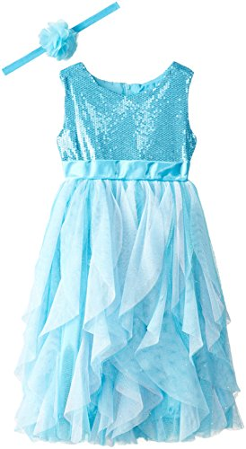 Disney Girls' Frozen Queen Elsa Role Play Dress with Matching Tiara