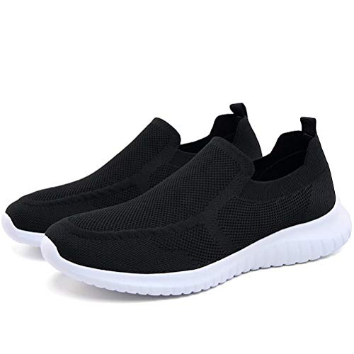 konhill Men's Breathable Walking Shoes - Tennis Casual Slip on Athletic Sneakers
