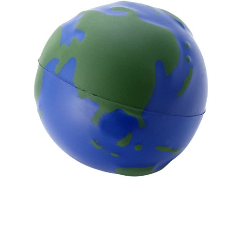 Bullet Globe Stress Reliever (2.4 inches) (Blue/Green)