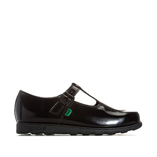 Kickers Women's Fragma T Patent Shoes US7 Black (Womens Kickers)