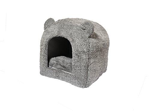 Rosewood-Teddy-Bear-Cat-Bed-38-x-38-cm-Grey
