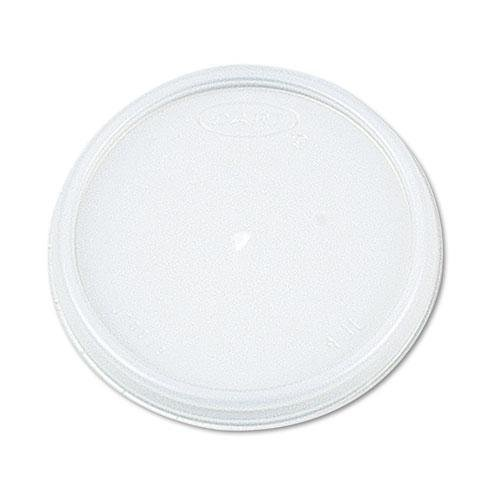 DCC 8JL Plastic Lids, for 8oz Hot/Cold Foam Cups, Vented, 1000 Lids/Carton by (8jl Plastic Lids)