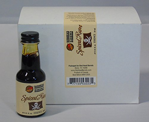 Spiced Rum Essence - Case of 12 Bottles of Essence 20 ml Each Makes 1 Liter (Spiced Rum)