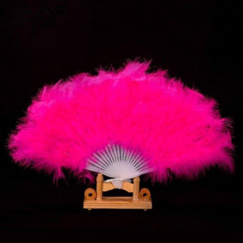Coerni Elegant Fancy Costume Party Dance Fan for Wedding ,Dancing, Large Feather Folding Hand Fan Decor on SALE (Hot (Bin Bag Fancy Dress Costumes)